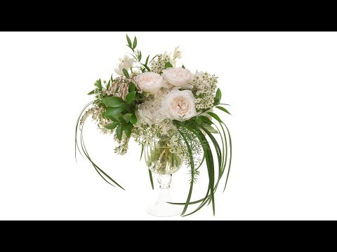 Classic White Hand-Tied Garden Roses