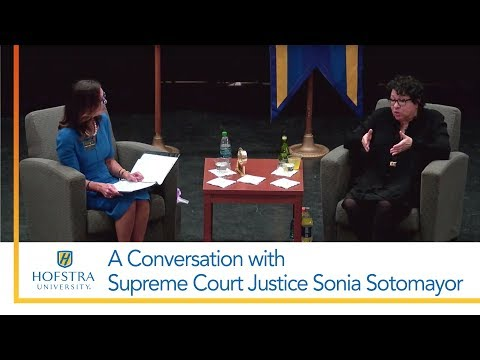 A Conversation with Supreme Court Justice Sonia Sotomayor