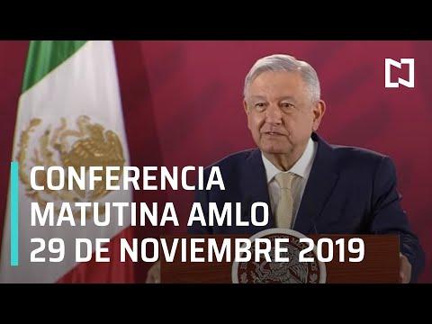 Conferencia matutina AMLO - Viernes 29 de noviembre 2019