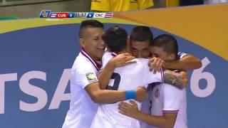 GOAL Costa Rica, Juan CORDERO No. 8   #Cuba #CUB @Fedefutbol_CR #FUTSALCR2016