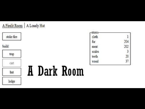 A Dark Room Addictive Free ASCII Web Game