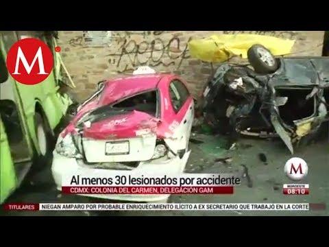 Suman 33 lesionados por accidente en la GAM