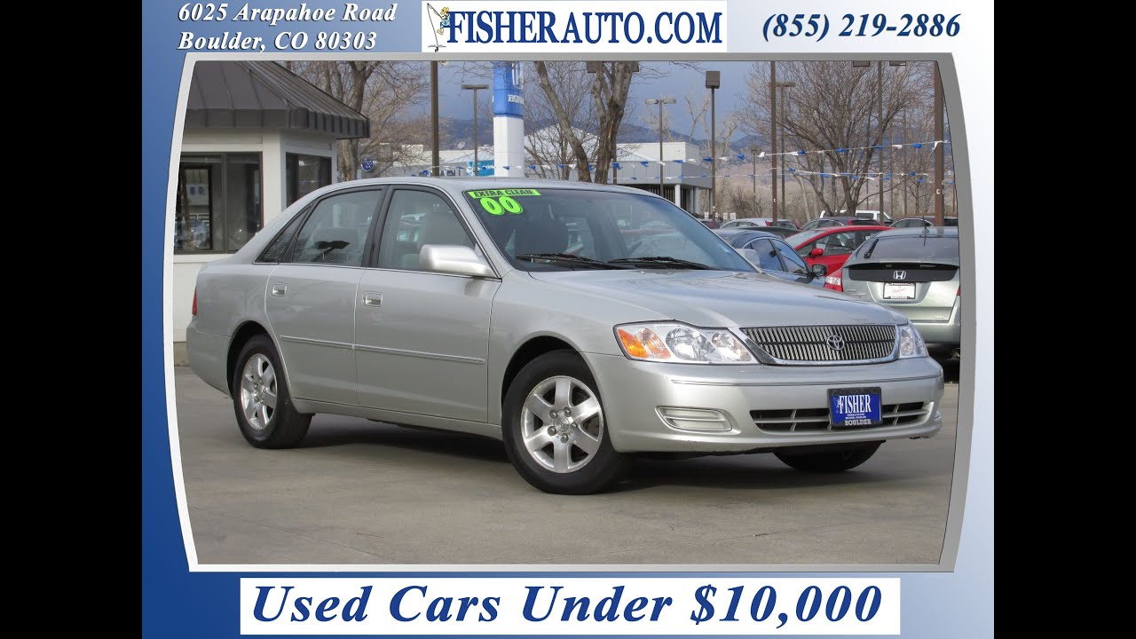 used cars under 10 000 2000 toyota avalon xl silver 7 900 longmont denver fisher auto. Black Bedroom Furniture Sets. Home Design Ideas