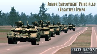 Armor Employment Principles: Negative Tempo (Steel Beasts ProPE Footage)