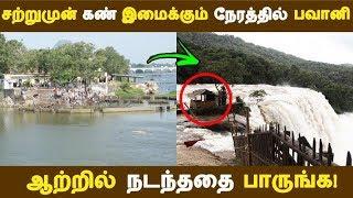 சற்றுமுன் கண் இமைக்கும் நேரத்தில் பவானி ஆற்றில் நடந்ததை பாருங்க!   Tamil News  