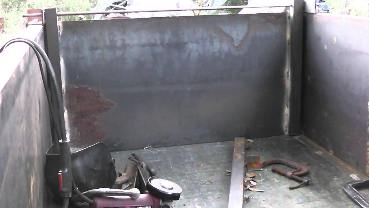 Dump Trailer Project Part 3 Dump Door Youtube