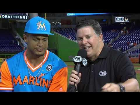 Giancarlo Stanton -- Miami Marlins vs. San Diego Padres 08/27/2017