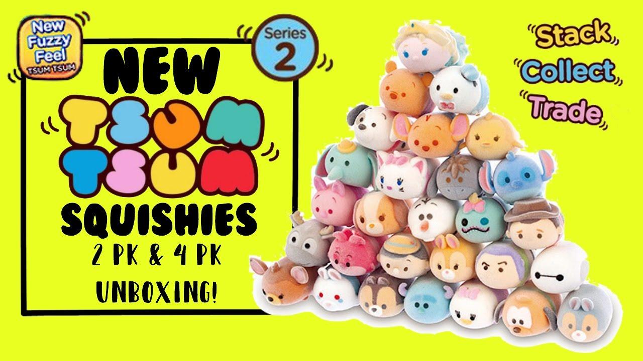 Select your figure *BRAND NEW* Disney TSUM TSUM Series 2 Squishies Fuzzy Feel