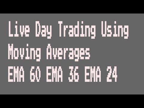 Live Day Trading Using Moving Averages EMA 60 EMA 36 EMA 24
