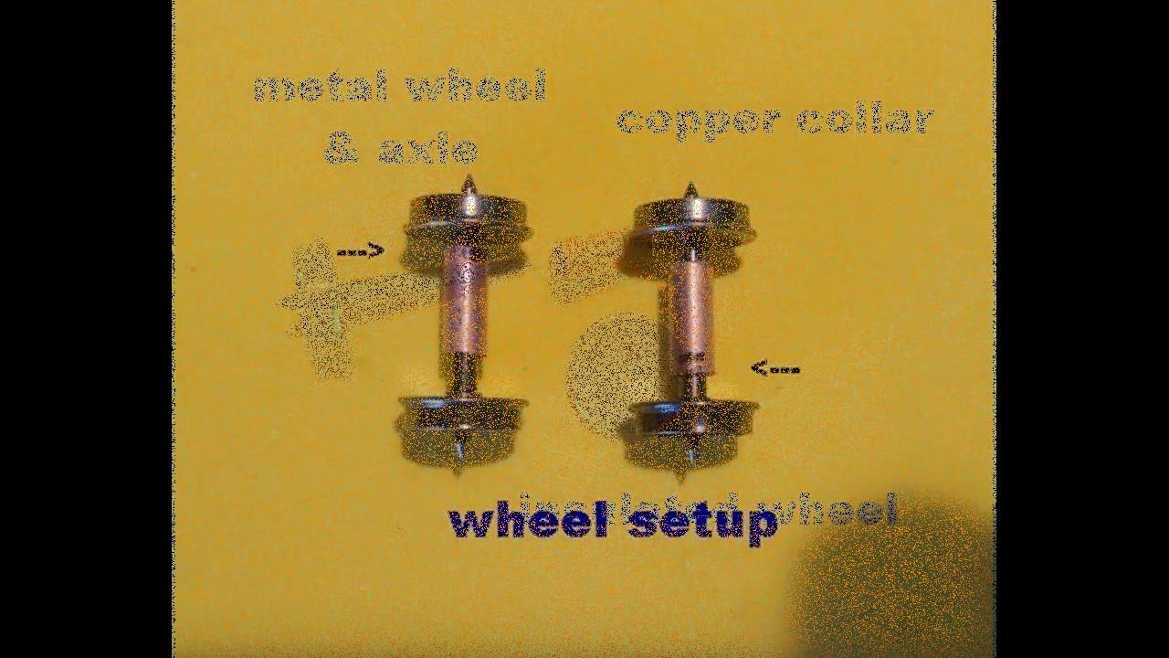 G Scale Wheels /& Axels Set of 4 Wheels /& 2 Axles