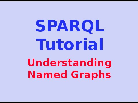 Simple SPARQL Tutorial 27/29: Understanding Named Graphs