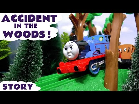 Thomas & Friends Accident Rescue Episode with Play Doh Diggin Rigs |  Thomas Toy Trains Unboxing