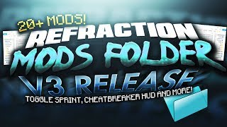 One of Refraction's most viewed videos: MOD FOLDER V3 RELEASE! - 20+ of the BEST Mods for Hypixel & Minecraft PvP