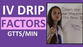 Dosage Calculations for Nursing Students on IV Drip Rate Factors Made Easy (Video 4) thumbnail
