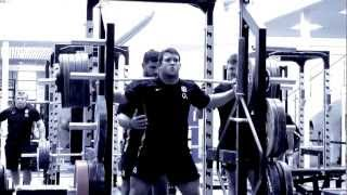 In the gym with England Rugby