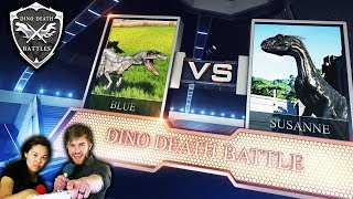 BLUE vs INDORAPTOR ◊ Dinosaur Death Battles (Jurassic World Evolution Dub)