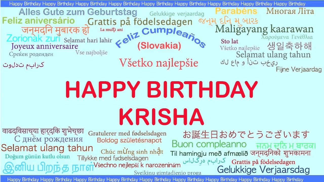 grattis på födelsedagen meaning Krisha Languages Idiomas   Happy Birthday   YouTube grattis på födelsedagen meaning
