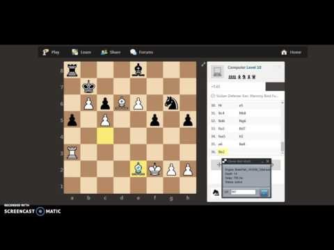 ChessBot playing against Computer Level 10 at chess.com