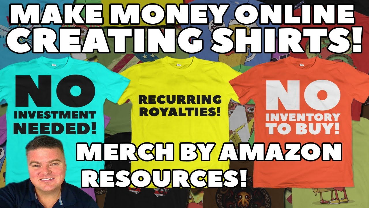 2f428129 Make Money Online W/ Merch By Amazon Print On Demand POD TShirt Service!  Sell Tee Designs on Amazon!