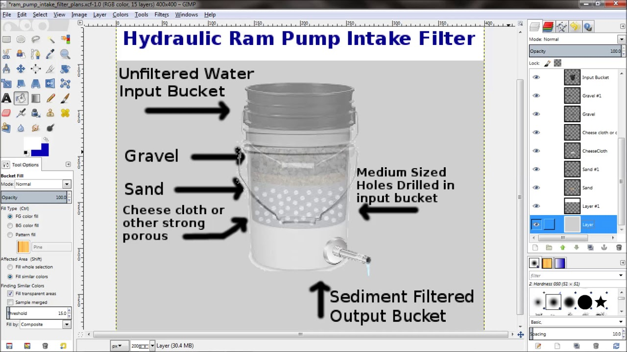 medium resolution of hydraulic ram pump intake filter diagram land to house video reply