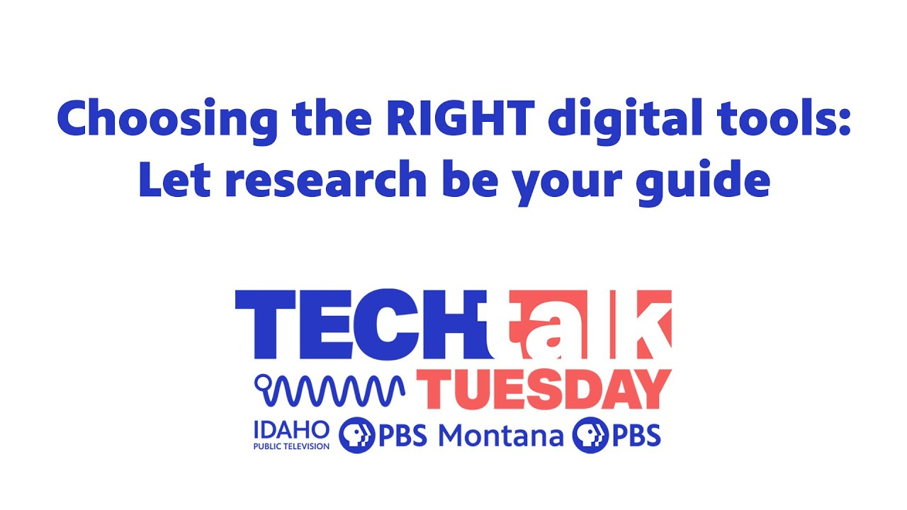 Choosing the RIGHT digital tools: Let research be your guide