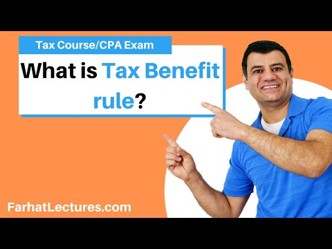 Tax Benefit Rule   Income Tax Course   CPA Exam Regulation