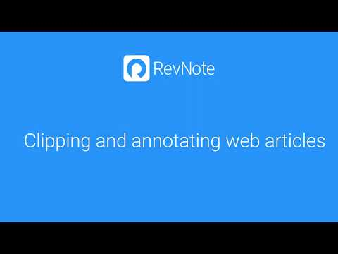 Clipping and annotating web pages