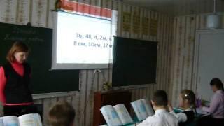 Урок математики в малокомплектной школе .  (3,4 кл)