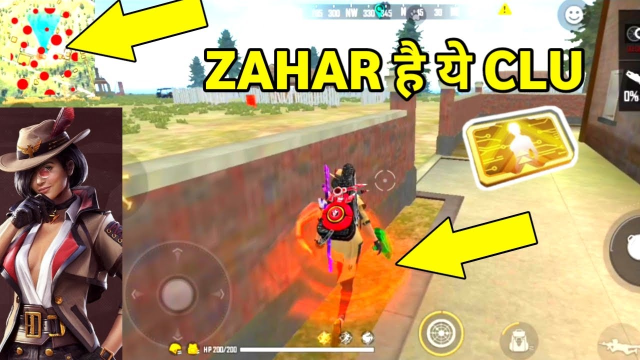 Clu Character Ability | Clu Character Game Play | Clu Character 8 LevalvAbility  || Garena Free Fire