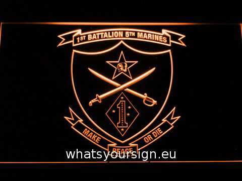 US Marine Corps 1st Battalion 5th Marines LED Neon Sign