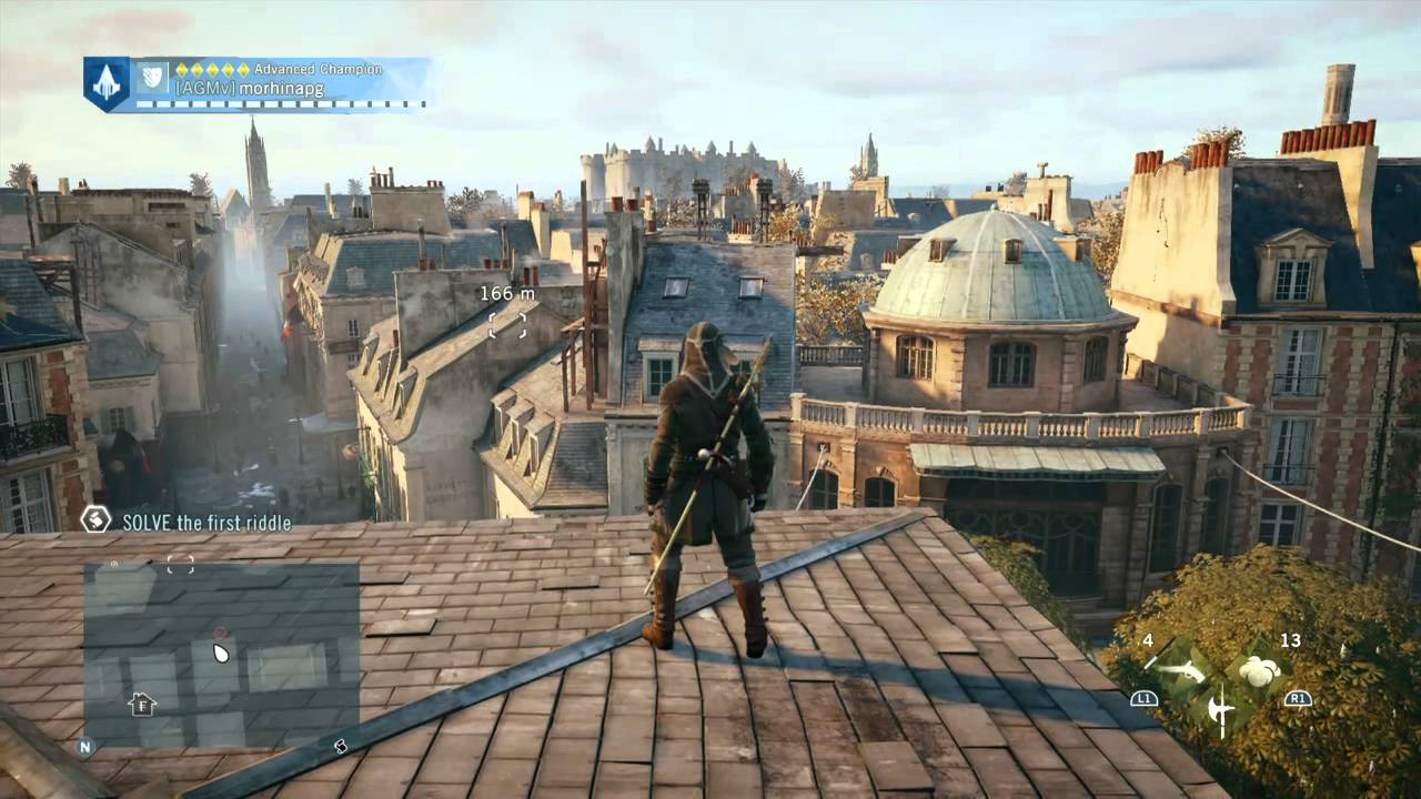 Assassin S Creed Unity Parkour Gameplay Youtube
