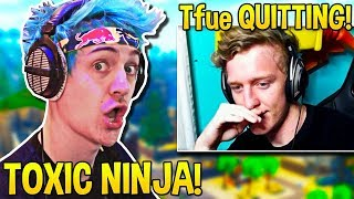 TOXIC NINJA is BACK! Tfue QUITTING Competitive Fortnite! - Fortnite Moments