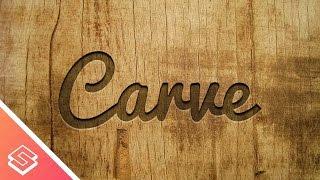 Inkscape Tutorial: Carved Wood Effect