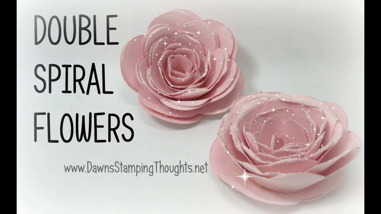 How to Make a Double Spiral Flower
