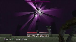 Minecraft PS3 - Killing The Ender Dragon (Survival & Platinum Trophy)
