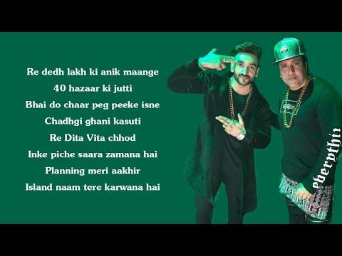 Jimmy Choo (Lyrics) -  Fazilpuria | Govinda | Varun Sharma | FRYDAY |