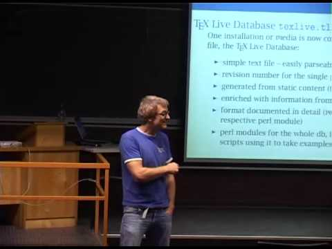 [FOSDEM 2013] Distributing TeX and Friends - methods, pitfalls, advise