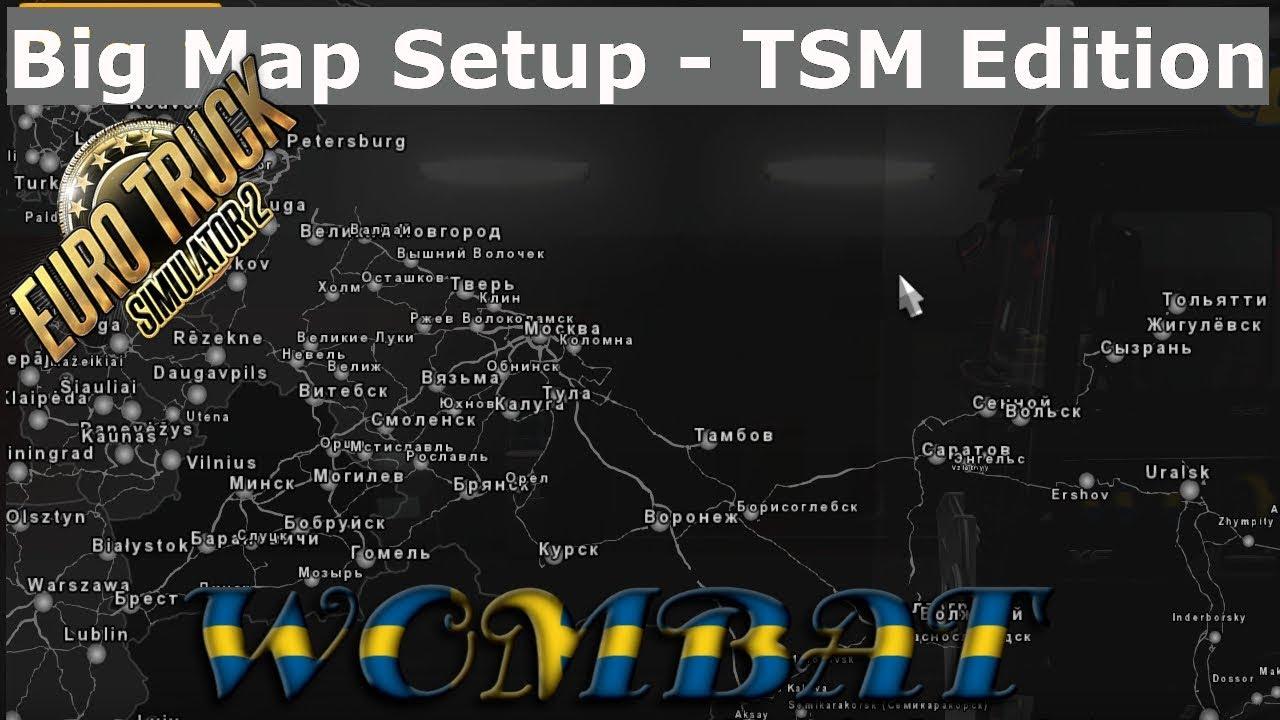 ETS2 1 33 - Big Map Setup - TSM edition, adding Rusmap and Volga