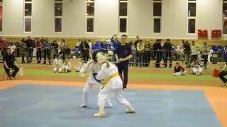 Самые зрелищные моменты турнира по киокусинкай каратэ(6.03.2016)