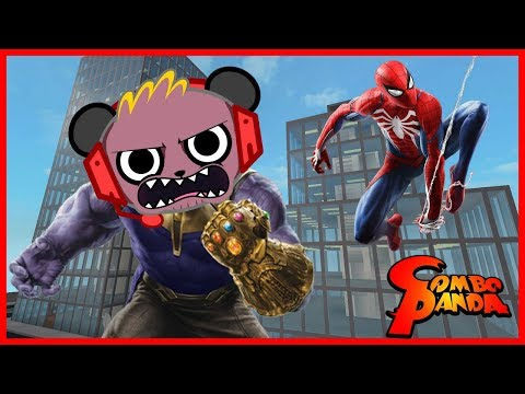 Best Superheroes Marvel's SPIDER-MAN + Roblox & Fortnite Let's Play with Combo Panda