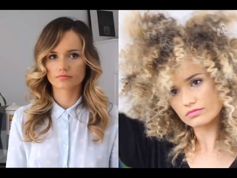 how to make straight hair into afro hair tutorial youtube