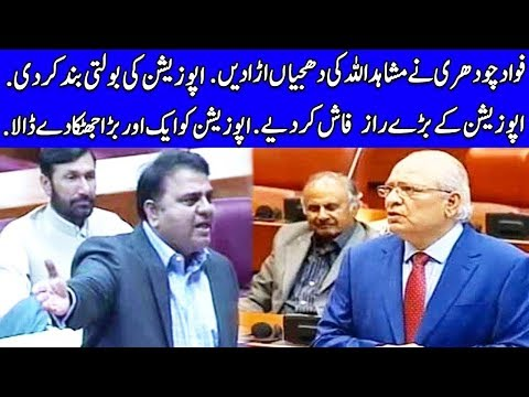 Fawad Chaudhry Lashes Out On Mushahid Ullah Khan | TPN