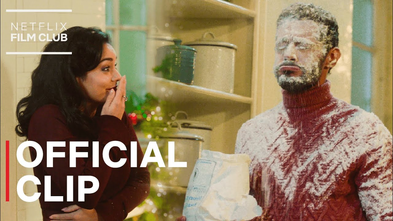 Download Vanessa Hudgens Flour Fight Scene | The Princess Switch: Switched Again | Netflix
