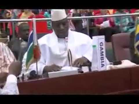 Yahya Jammeh Babili mansa intervention during the 23rd AU Su