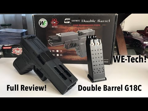WE-Tech Double Barrel Glock 18C Review! Full Auto Edition!