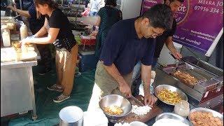 Indian + Middle Eastern Street Food: Masala Chips, Punjabi Samosa, Halloumi Fries by Chaatit London.