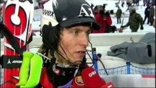 Interview Marcel Hirscher Worldcup Slalom 2009 Wengen