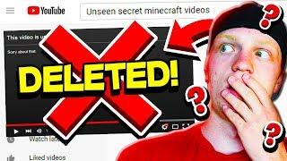 MY UNSEEN SECRET MINECRAFT VIDEOS!