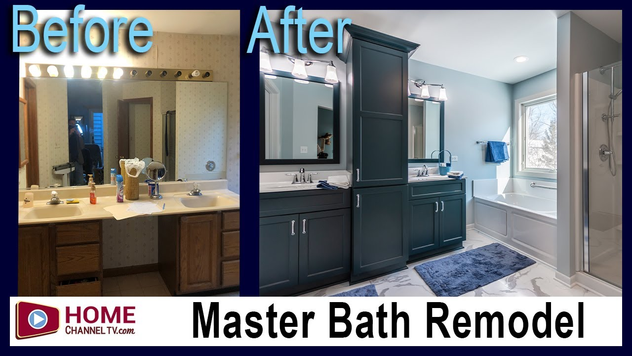 Before & After Master Bath Remodel from KLM Kitchens Baths Floors