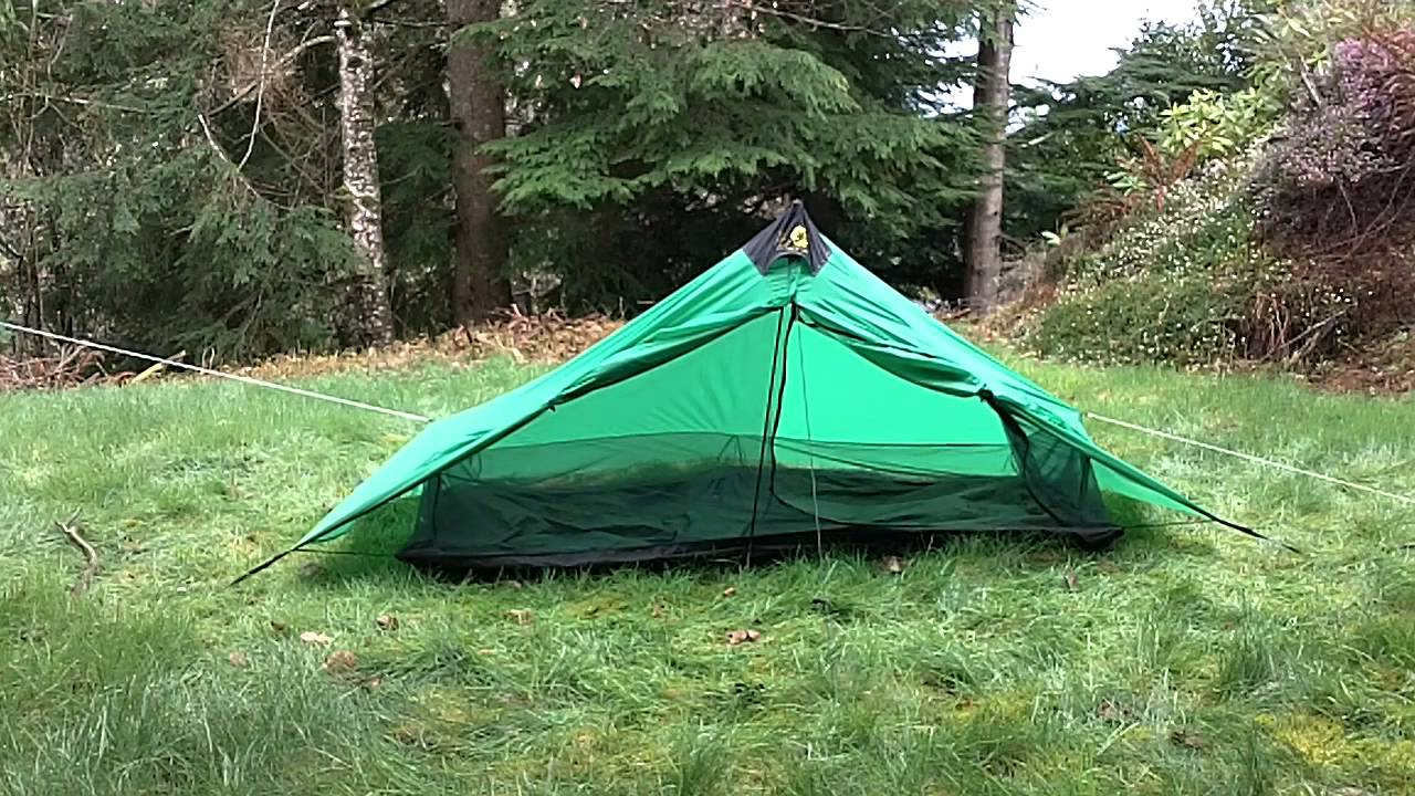 & Six Moon Designs Lunar Solo 2011 tent set up - YouTube